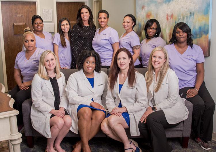 Avant Gynecology doctors, nurses, and staff.